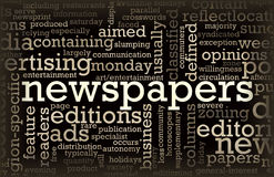 Newspapers royalty free illustration