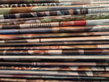 Newspapers. A stack of different newspapers Royalty Free Stock Photo