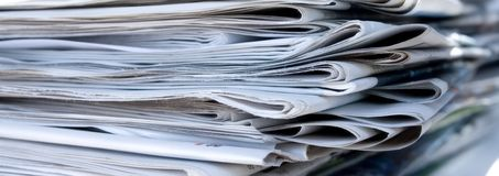 Newspapers. A stack of old newspapers Royalty Free Stock Photography