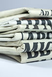 Daily Newspapers. A pile of folded daily newspapers Stock Photos