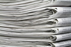 Newspapers. Several newspapers on one another and form a stack Stock Image
