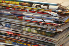 Newspapers. Stack of newspapers Stock Photography