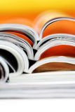 Newspapers. Pile of colorful newspapers - relaxing time Royalty Free Stock Images