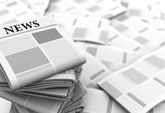 Newspapers background Royalty Free Stock Image