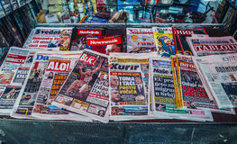 Newspapers in Belgrade Royalty Free Stock Photography