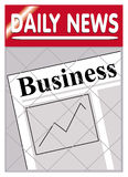 Newspapers business. An image of a newspaper stand with business news insert Stock Photo