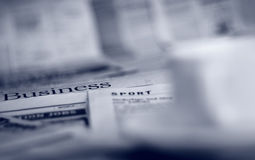 Newspapers and coffee Royalty Free Stock Image