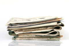Newspapers with copyspace Royalty Free Stock Image