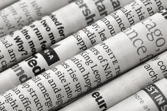 Newspapers detail. Close up with newspaper details Royalty Free Stock Photo