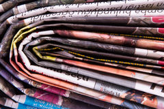 Newspapers Detail Royalty Free Stock Photo