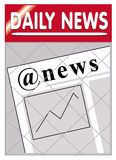 Newspapers @ e-news news. An image of a newspaper stand with web news insert @ e-news e news Royalty Free Stock Image