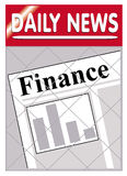 Newspapers finance. An image of a newspaper stand with finance news insert Stock Photo