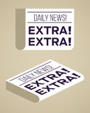 Newspapers. Flat newspaper designs with textured background vector illustration
