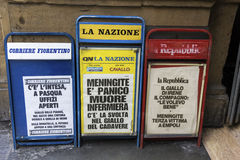 Newspapers in Florence, Italy Royalty Free Stock Photos
