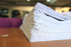 Newspapers folded and stacked concept for global communications Stock Photography