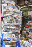 Newspapers in France royalty free stock images