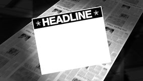 Newspapers HEADLINE - Printing Press stock footage