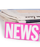 Newspapers isolated on white background Royalty Free Stock Image
