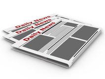 Newspapers isolated on white. Stock Photos