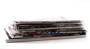 Newspapers and magazines Royalty Free Stock Photos