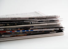 Newspapers and magazines Royalty Free Stock Images