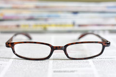 Newspapers and magazines background concept Stock Images