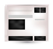 Newspapers and news icon. Black Stock Images