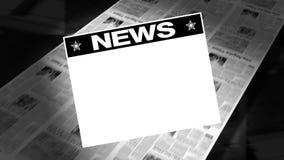Newspapers NEWS - Printing Press stock video footage