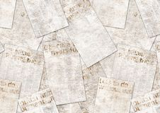 Newspapers old vintage grunge collage textured background royalty free stock image