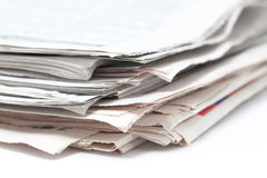Newspapers. On a photo background of newspapers closeup Royalty Free Stock Photos