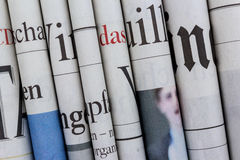 Newspapers. Pile of  newspapers, stack of newspaper Royalty Free Stock Photography