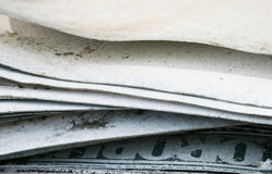 Newspapers for recycling Royalty Free Stock Images