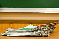 Newspapers at school Royalty Free Stock Photography