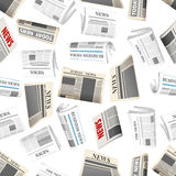 Daily newspapers seamless pattern background Stock Photo