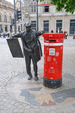 Newspapers seller sculpture in Porto, Portugal Stock Image