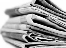 Newspapers series Royalty Free Stock Photography