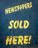 Newspapers Sold Here Royalty Free Stock Photos