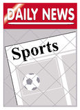 Newspapers Sport. An image of a newspaper stand with sports news insert Royalty Free Stock Image