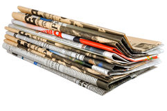 Newspapers stack Stock Photography