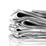 Newspapers. Stack newspapers - black and white image Stock Images