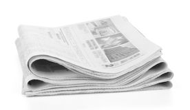 Newspapers stack isolated Stock Image