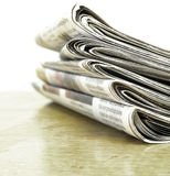 Newspapers Stacked up Royalty Free Stock Image