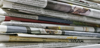 Newspapers - Stock Image. Newspapers. Image on white background Royalty Free Stock Photos