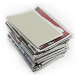 Newspapers - Stock Image. Newspapers. Image on white background Royalty Free Stock Images