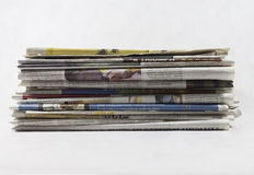 Newspapers - Stock Image. Newspapers. Image on white background Royalty Free Stock Photography