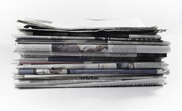 Newspapers - Stock Image. Newspapers. Image on white background Stock Photos