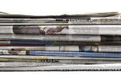Newspapers - Stock Image. Newspapers. Image on white background Stock Images