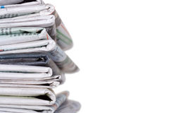 Newspapers stockpile Stock Images