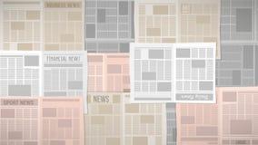 Newspapers texture Stock Photos