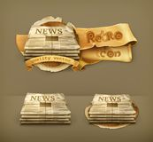 Newspapers vector icons Royalty Free Stock Photo
